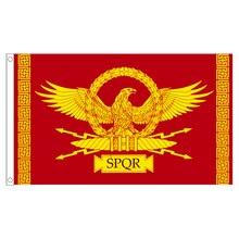 Xvggdg флаг SPQR Римская империя Сенат и люди римского флага декоративный баннер для дома