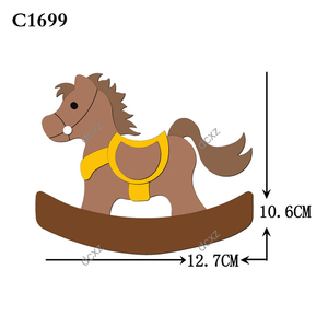 Image 2 - New horse Wooden die Scrapbooking C 301 4 Cutting Dies Compatible with most die cutting machines