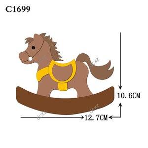 Image 2 - Nuovo cavallo di Legno die Scrapbooking C 301 4 Fustelle Compatibile con la maggior parte dei morire macchine da taglio