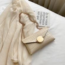 New small bag female 2020 summer Korean fashion crocodile pattern shoulder foreign wild messenger envelope