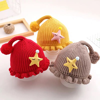Infant Baby Hat Autumn And Winter Warm Hats Solid Cartoon Cute Knitted Caps Newborn Baby Boys Girls Cap 2017 winter hats warm beanies for men women autumn caps knitted hat for girls boys christmas present new year s gift film cap