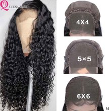 5x5 6x6 Lace Closure Wig Water Wave Closure Wig Pre Plucked