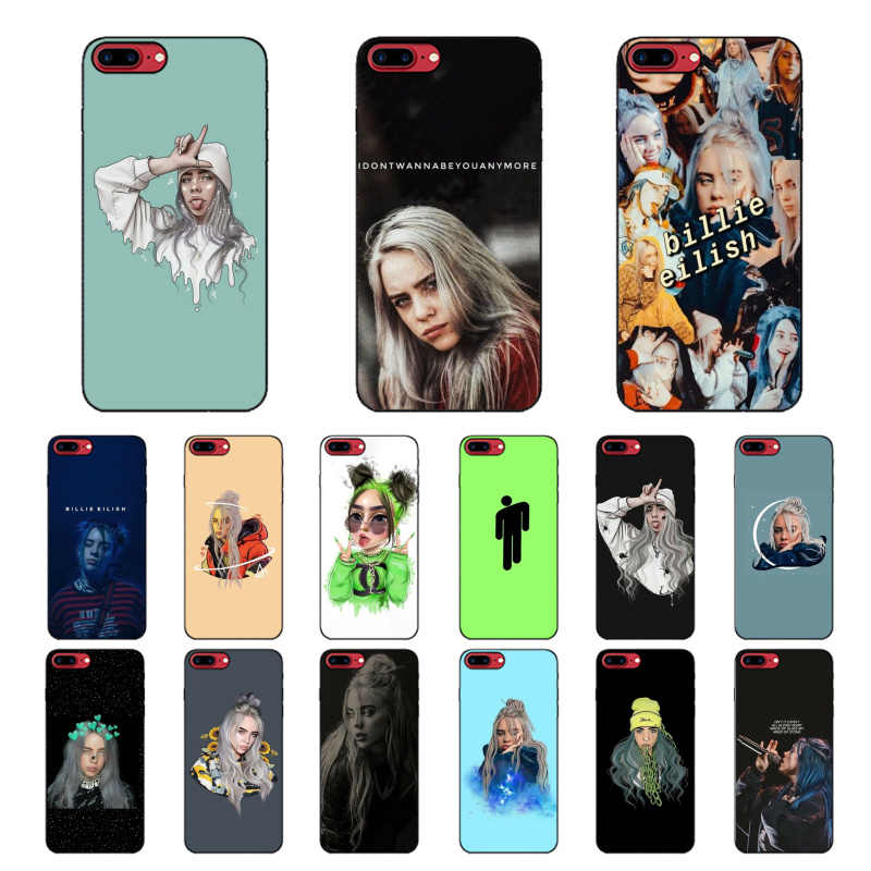 MaiYaCa Billie eilish smart cover czarny miękki sztywny futerał na telefon do Apple iPhone 8 7 6 6S Plus X XS MAX 5 5S SE XR 11 11pro max