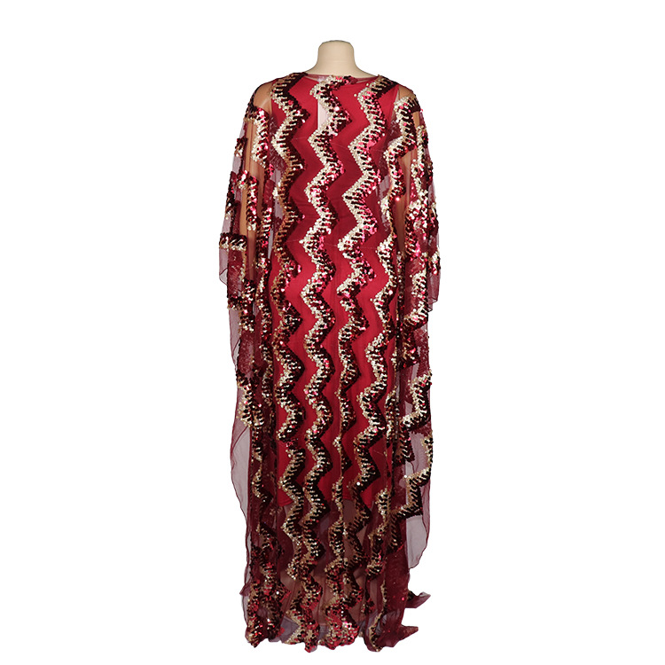 Image 5 - New Fashion African Maxi Dress For Women 2020 African Clothes African Sequins Robe Loose Dashiki Traditional Long Dress LadyAfrica Clothing   -