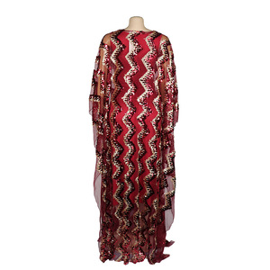 Image 5 - New Fashion African Maxi Dress For Women 2020 African Clothes African Sequins Robe Loose Dashiki Traditional Long Dress Lady
