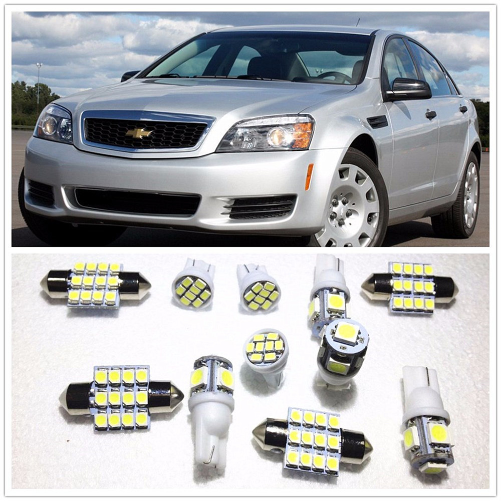 2x Chevrolet Lacetti Bright Xenon White 8SMD LED Canbus Number Plate Light Bulbs