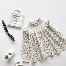 Girls Shirt Bbaby Spring Korean-Version Long-Sleeved Cotton Children's New Autumn The