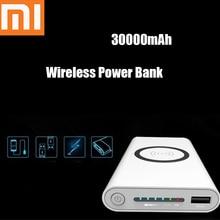 Xiaomi, беспроводной внешний аккумулятор, стандарт Qi, 30000 мА/ч, Беспроводная зарядка, Мобильный Внешний аккумулятор, портативное зарядное устройство для Iphone X