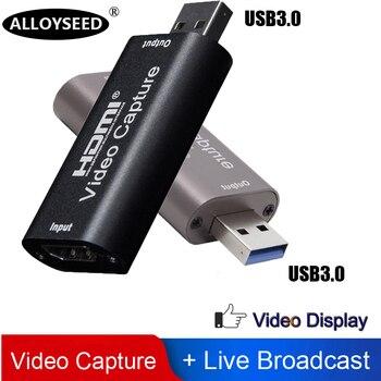 ALLOYSEED USB 3.0/2.0 Video Capture Card HDMI 1 Way to USB 2.0 1080P Mini Acquisition Card HD Camera Recording Live Streaming carl dixon strange way to live