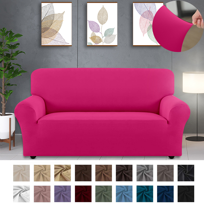 Solid Color Sofa Covers for Living Room Polyester Modern Elastic Corner Couch Cover Slipcovers 1/2/3/4 Seate