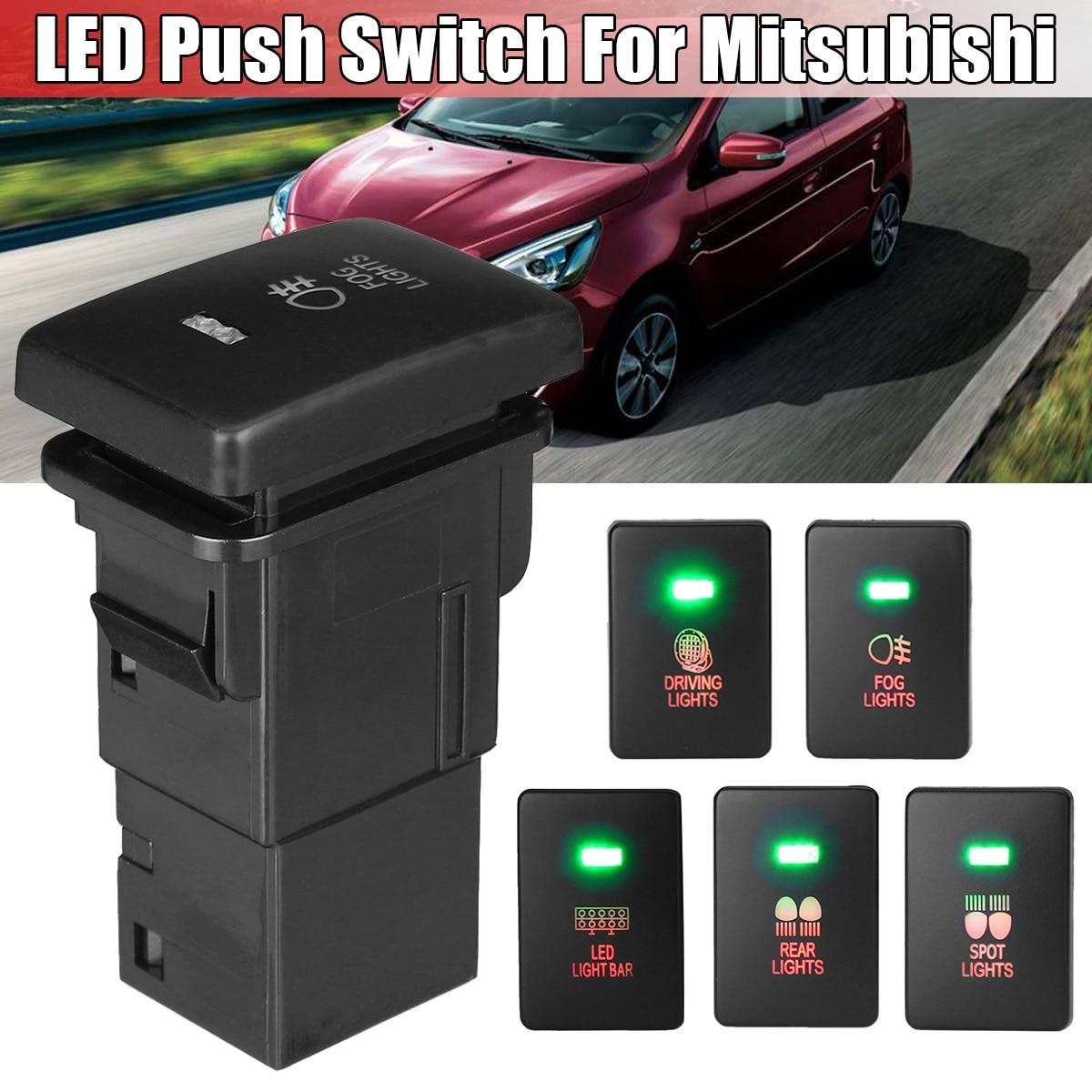 12V автомобильный светильник Кнопка туман пятно Задний ведущий светильник светодиодный светильник бар переключатель для Mitsubishi Mirage в интерн...
