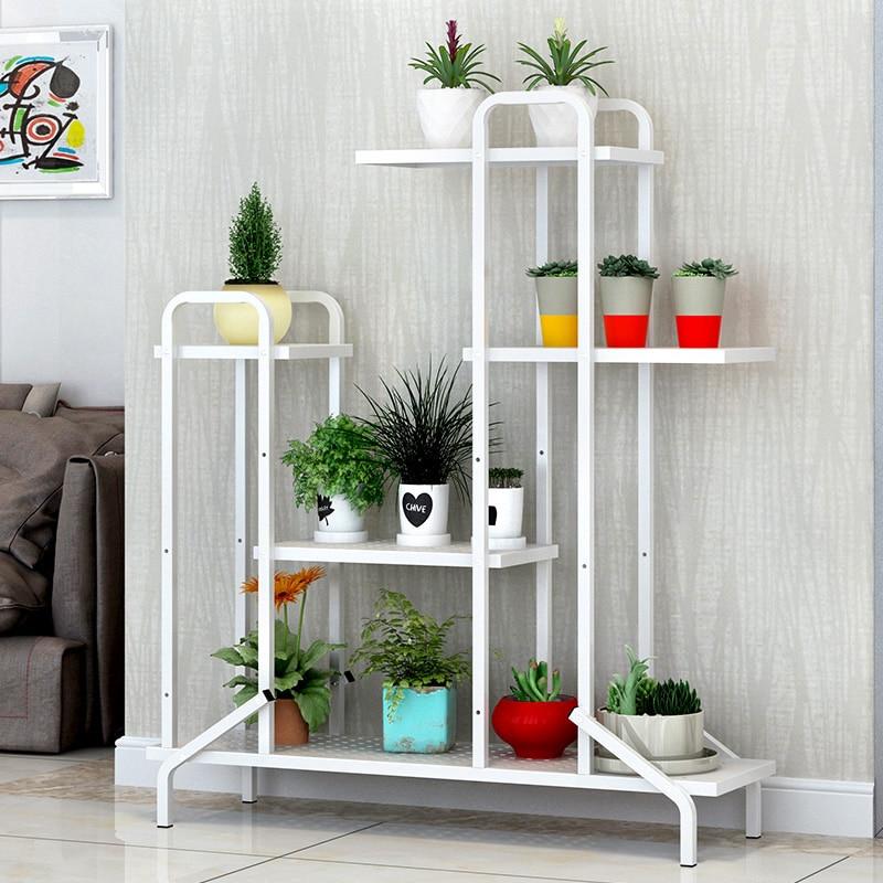 Simple Modern Iron Art Floating Window Multi-layer Flower Pot Shelf Landing Living Room Assembly Shelf Multi-function