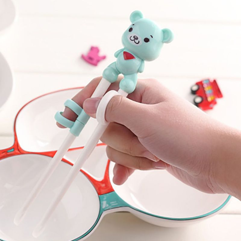 Safety Baby Chopsticks 2Y-6Y Toddler Infant Learning Training Chopsticks Kids Cute Environmental Protection Chopsticks 2 Colors