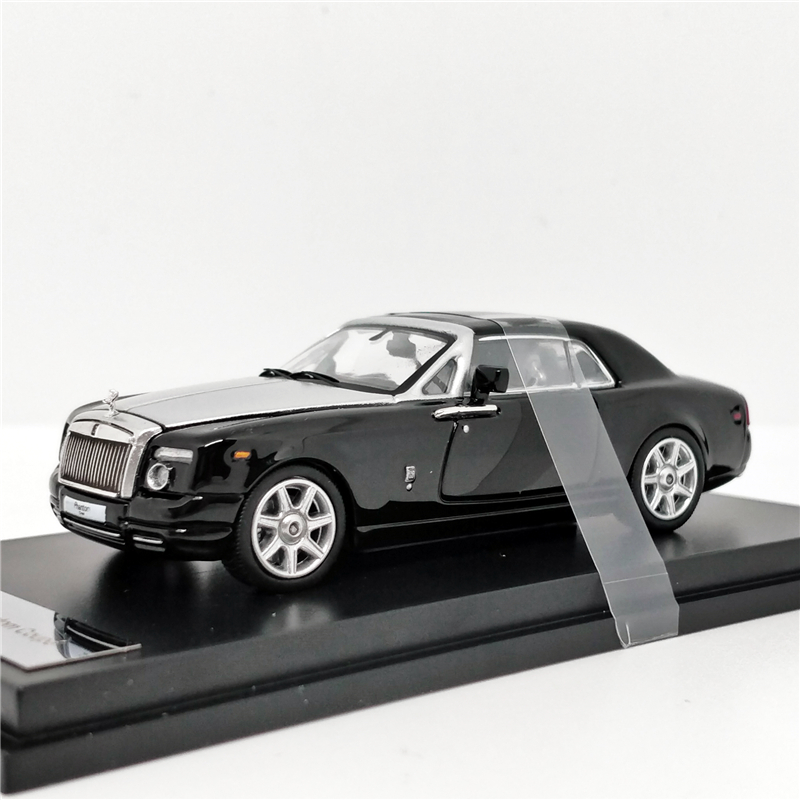 1:64 Rolls Royce Rolls Royce Phantom Coupe Black/Silver  Diecast Model Car