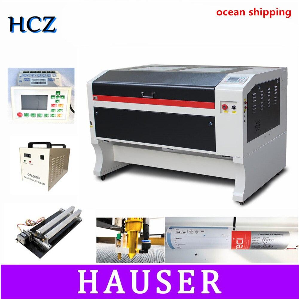 RECI 100W Co2 Laser Engraving Machine USB Auto Focus Laser Cutting Machine With DSP System Engraving Machine Cooler 1000 X 600mm