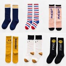 1 Pari Spring Baby Knee Socks for Girls Boys Stripe Cartoon Kids