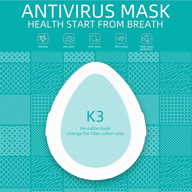 K3 Electric Mask Respirator haze PM2.5 / second-hand smoke / air purification / anti-flu PM2.5 Face Mouth Mask 3