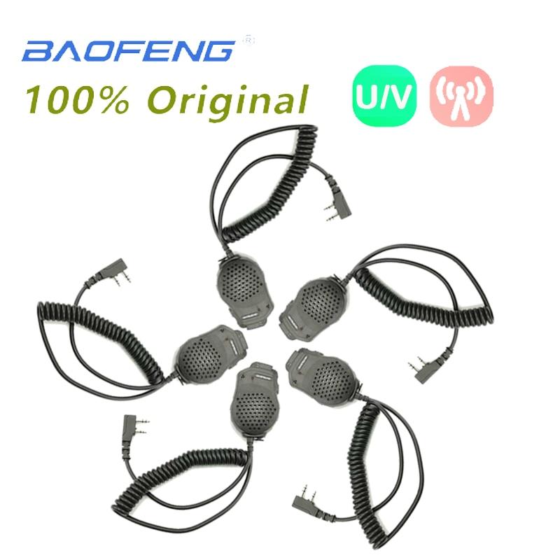 5PCS Baofeng UV-82 Dual 2 PTT Mic Speaker Microphone Baofeng 100mW For UV 82 UV-8D UV-89 Walkie Talkie Accessories Two Way Radio