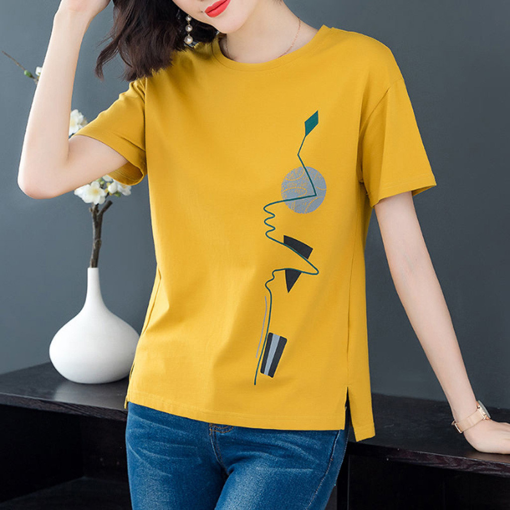 4# Short Sleeve Women's T-shirts Vintage Printed O-neck Punk Ladies T-shirt Tops T Shirt Women Women Clothing 2021 Футболка 1