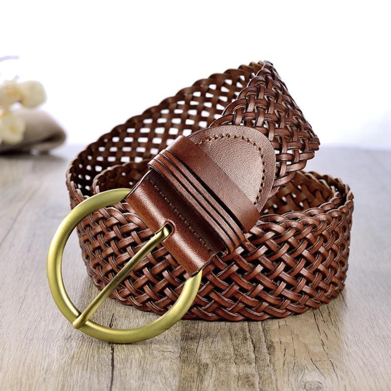 Corset Belt 2020 Trendy Braided Belt Stylish Waistband Solid New Design Belts For Women PU Wide Belt Fashion Female Tide ZK702