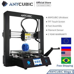 Image 2 - Anycúbico mega s impressora 3d i3 mega atualização kit de impressora 3d de metal completo tft tela sensível ao toque alta precisão tpu impressora impressora impressora impressora impressora 3d