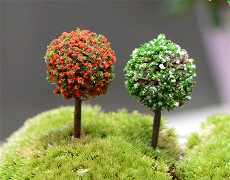 Mini Garden Decorations Resin Tree Fairy Garden Terrarium