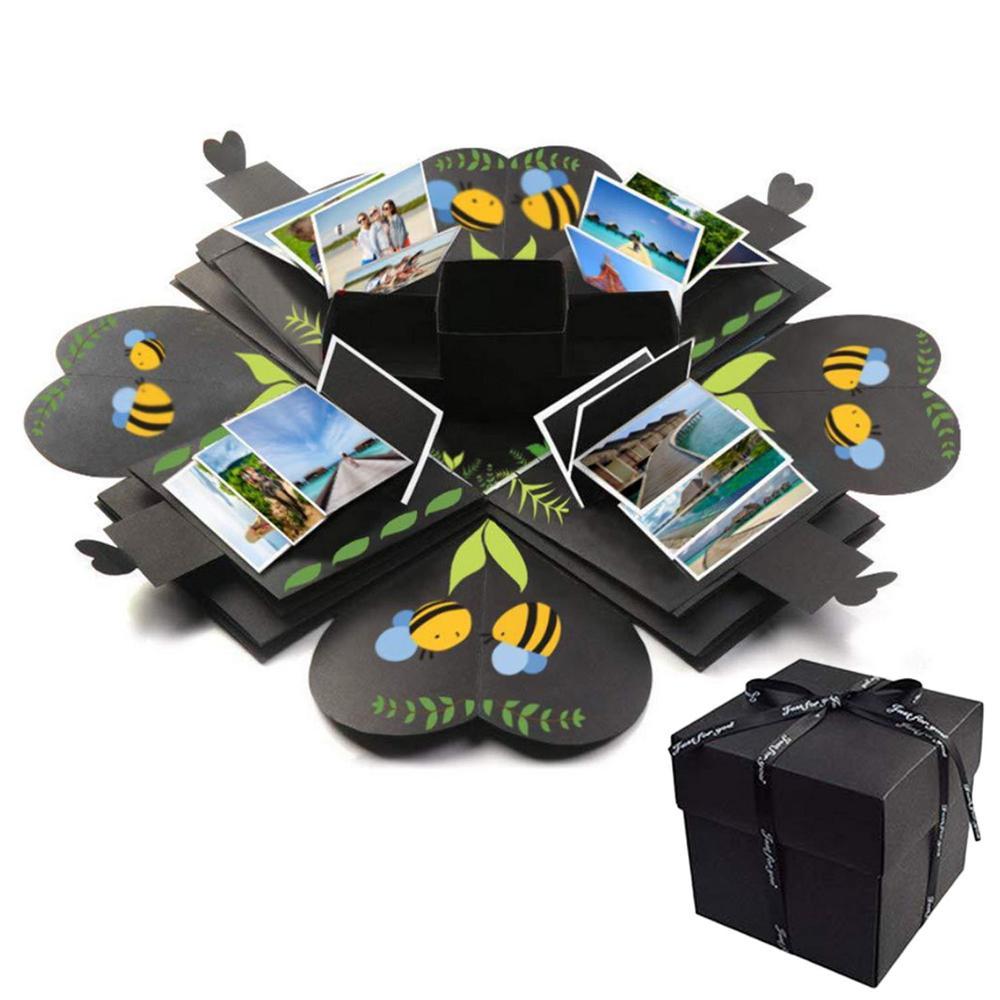 DIY Surprise Love Explosion Gift Box Surprise Box Craft Tool Kit For DIY Scrapbook Photo Album Wedding Valentines Anniversary