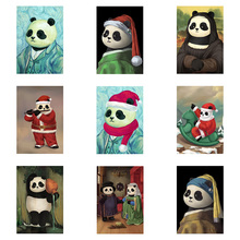 Full Drill 5D DIY Diamond Painting Cartoon Animal Panda Famous Embroidery Cross Stitch Children Christmas Gift