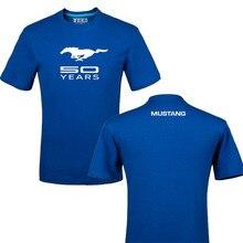 Забавный Логотип Mustang, хлопок, футболка с принтом, унисекс, летняя повседневная футболка, футболки, Футболка l