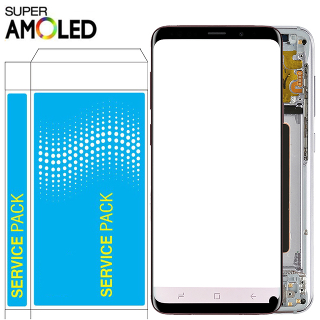 $ US $64.99 Original S8 LCD For Samsung Galaxy S8 Plus LCD With Frame Super Amoled 2960*1440 SM-G950F G955F Touch Screen Display Parts Spot