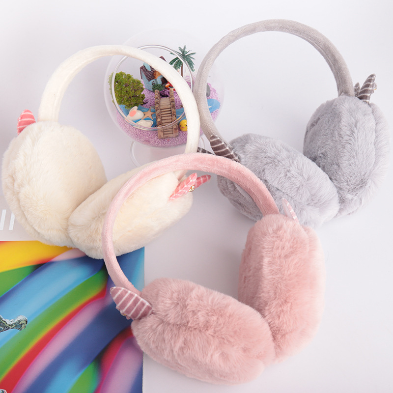 New Adult Plush Cartoon Cute Warm Winter Earmuffs