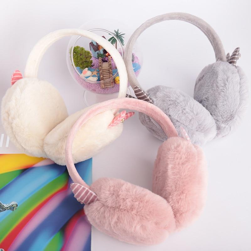 New Adult Plush Cartoon Cute Warm Winter Earmuffs