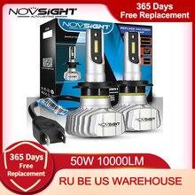 NOVSIGHT Auto Scheinwerfer H4 Hallo/Lo Strahl LED H7 H1 H3 H8 H9 H11 H13 9005 9006 9007 50W 10000lm 6500K Auto Scheinwerfer Nebel Glühbirnen