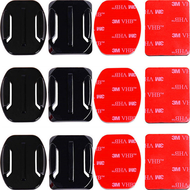Adhesive-Mounts-For-GoPro-7-6-5-4-3-Curved-Flat-Mounts-3M-Sticky-Pads-for
