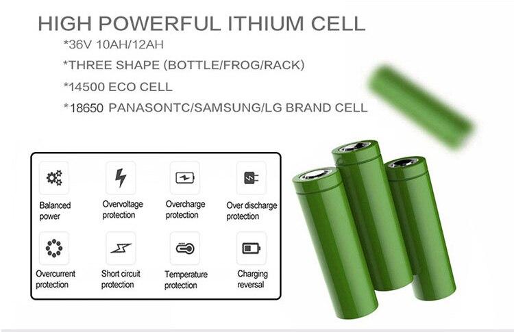 w kit ebike 36 v 10ah bateria