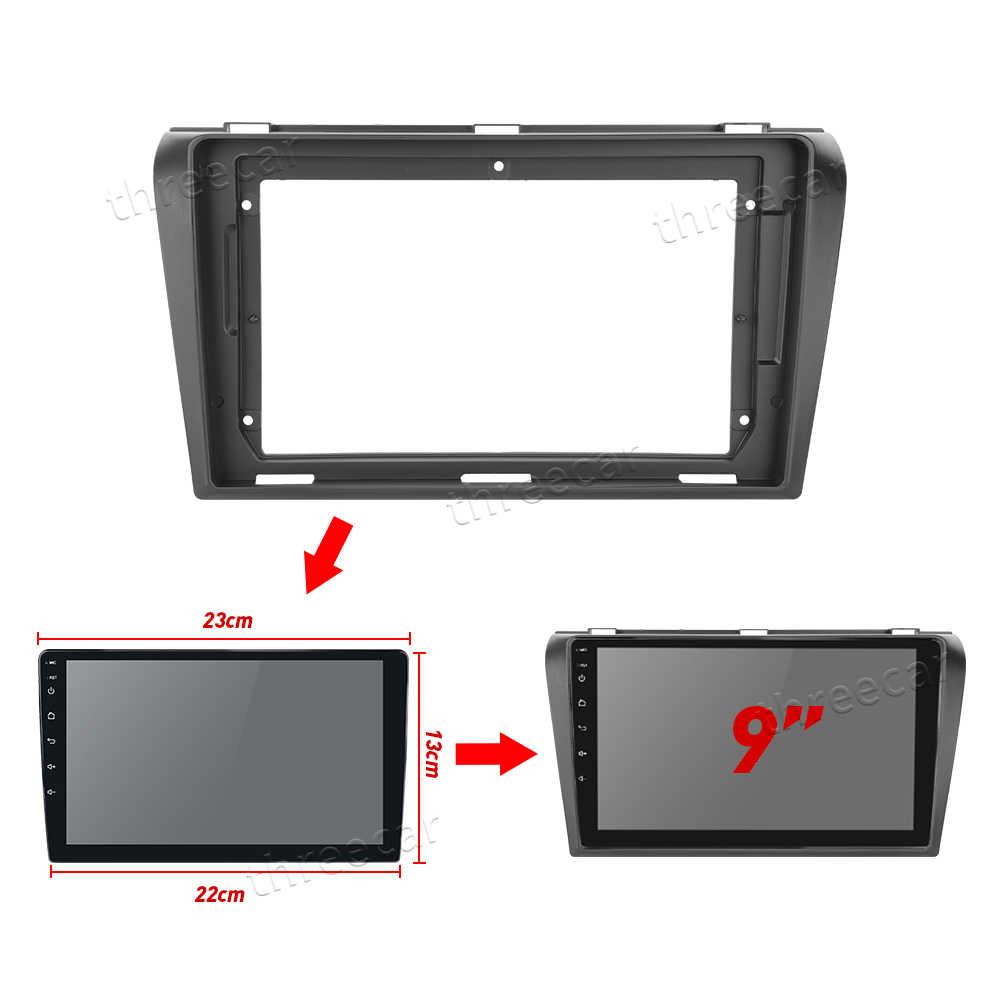 2Din Autoradio Fascia Telaio Misura per Mazda 3 2004-2012 maxx axela Android GPS Pannello Dash Kit Telaio telaio di montaggio Trim Fasciale