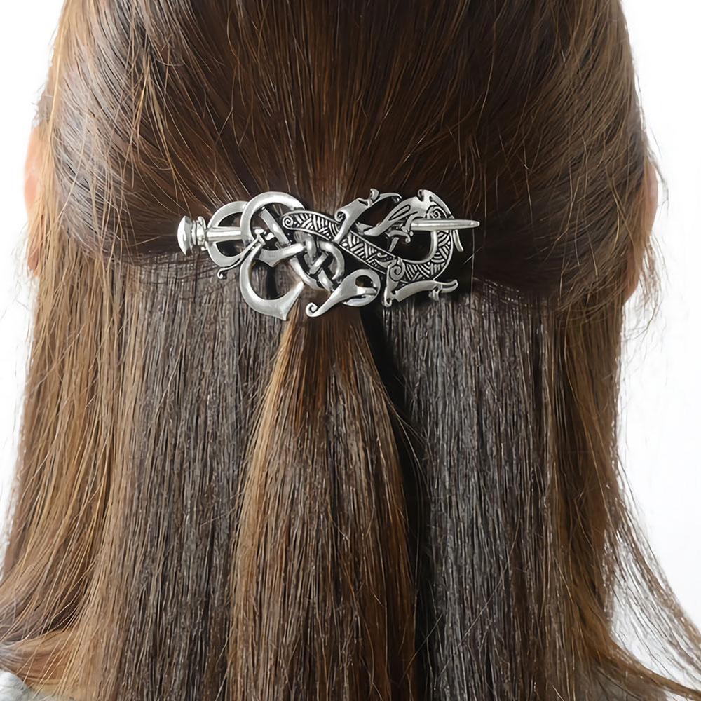 Vintage Norse Stick Slide Viking Hairpins Celtics Knots Hair Clip Women Gi Hq Ne