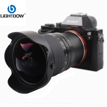 Lightdow – lentille Fisheye manuelle 8mm F3.0, pour caméras sans miroir Sony E mount, A6500 A6300 A6000 A5000 NEX3 NEX 5