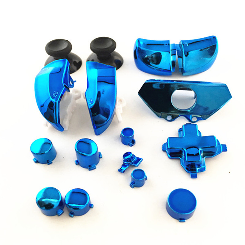 4 Colors Replacement Parts Repair Full Set Chrome ABXY Dpad Triggers Buttons Kits Controller Mod For Xbox One XboxONE 16pcs/Set