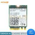 7260AC Intel Wireless-AC 7260 7260NGW двухдиапазонный NGFF M.2 802.11ac 867 Мбит/с wifi + Bluetooth BT 4,0 Wlan WiFi сетевая карта