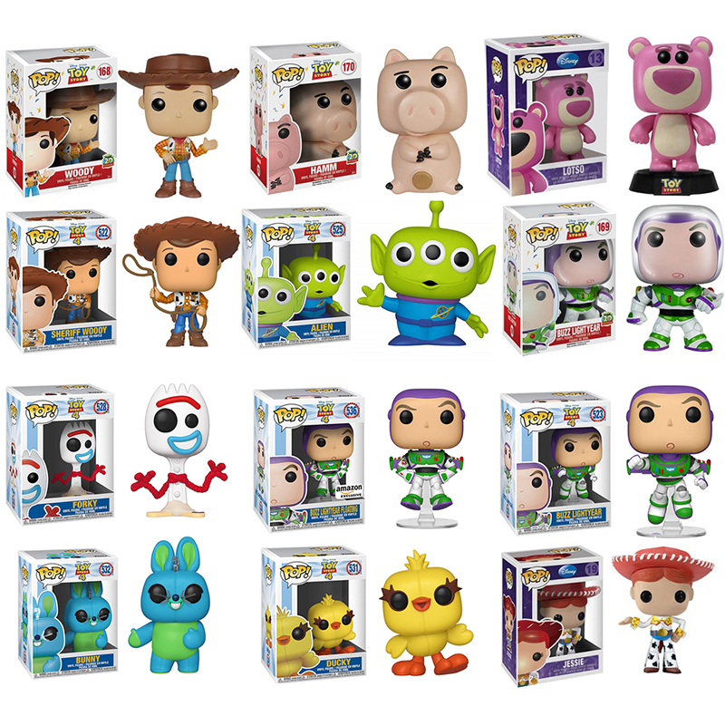 FUNKO POP Toy Story 4 Woody Forky Bunny Buzz Lightyear Vinyl Doll Action Figures Collection Model Anime Figure Toys Gifts 2F71