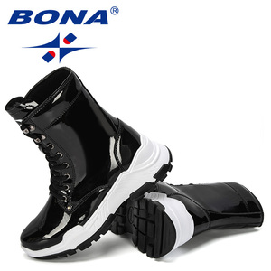 Image 5 - BONA 2019 New Designers Warm Platform Woman Snow Boots Plush Female Casual Sneakers Outdoor Snowboots Warm Shoes Ladies Footwear