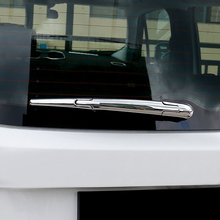ABS Chrome Car Rear Wiper Strip Cover Trim Sticker Car Styling For Jeep Renegade 2015 2016 2017 Car Accessories abs chrome car front light headlamps eyebrow trim cover for jeep renegade 2015 2016 2017 accessories car styling
