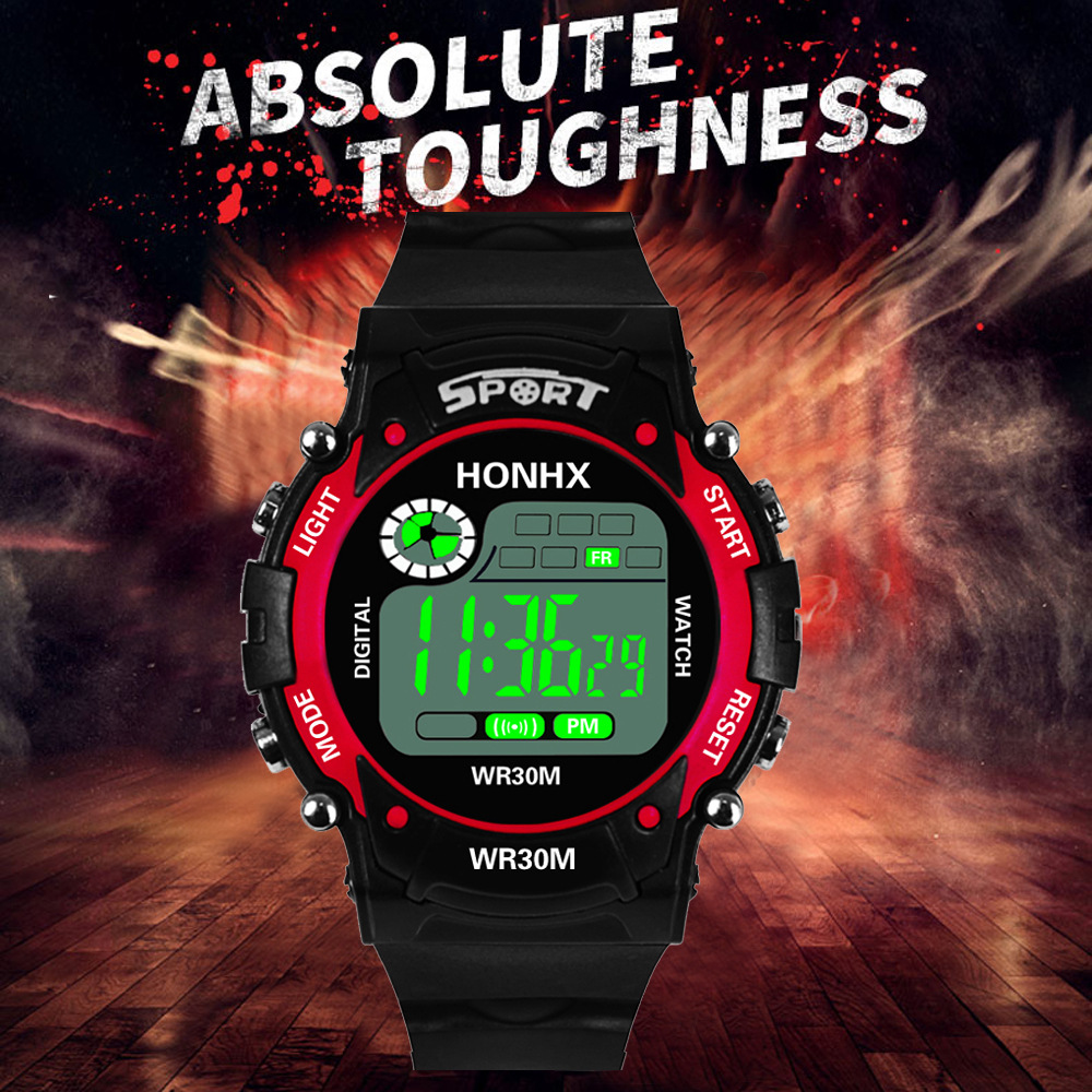 Sports Children Watch Outdoor Military Digital Alarm Clock Fashion Student Wrist Watches Boy Kids Luminous 5-18 Year Old Hour FD