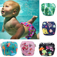 Reusable Baby Swim Diapers One Size Fit All Cloth Swimming Diaper Adjustable Potty Training Pants Washable Swimsuit for Infants(China)