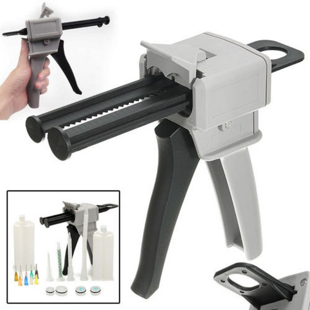 50ml Ab Epoxy Glue Gun Adhensive Mix 1:1 2:1 Manual Dispense Hand Tool Labeling Adhesive For Silica Gel Glues