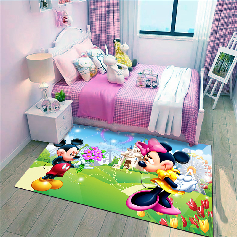 Mickey and Minnie Waterproof Door Mat Cartoon  Mat Cute Kitchen Rugs Bedroom Carpets Decorative Stair Mats Home Decor Crafts