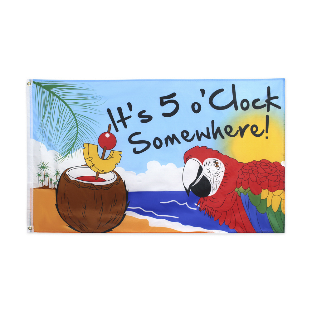 60X90/90X150CM It's 5 OClock Somewhere Flag Of Party Parrot Happy Hour Margarita