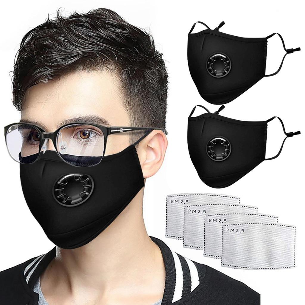 FFP3 Mask Black Mouth Mask Unisex Cotton Face  Mask Anime Mask For Cycling Camp Mascherine Antiviru