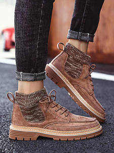 Men Boots Shoes High-Top Autumn Fashion New Flannel